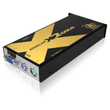 ADDERLink X2-DA-GOLD/P PS2 KVMA & RS232 CATx Dual Access Extender Local Control 300Mtr Inc Skew Correction 300MHz Pair